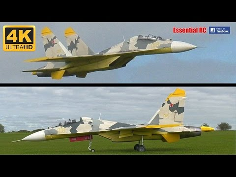 "LARGE SCALE RC Twin Jet Engine Su-27 ""FLANKER"" [*UltraHD and 4K*]"