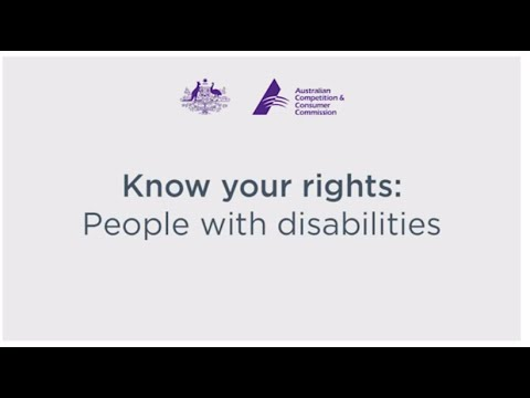 Know your rights: People with disabilities