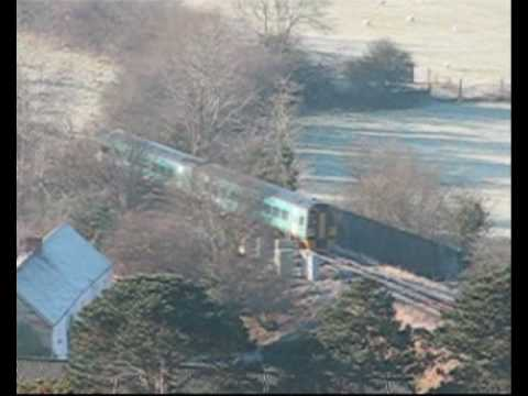 Frosty Morning Trains - Arriva 158s at Machynlleth