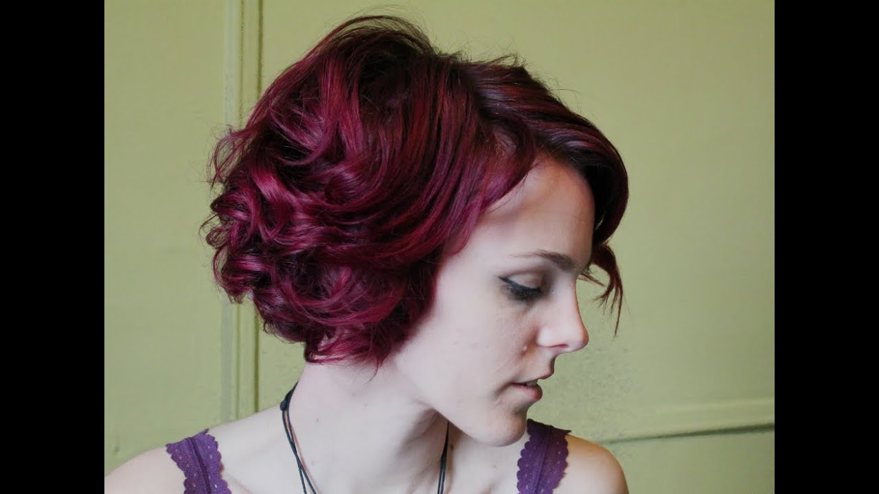 How to Curl Short Hair for Vintage Hairstyles - YouTube