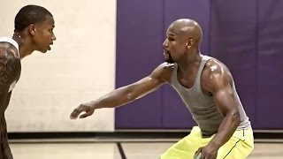 Floyd Mayweather Gets Crushed on Basketball Court by Isaiah Thomas