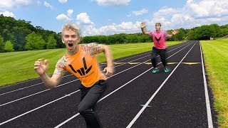 I BEAT LOGAN PAUL at the CHALLENGER GAMES RACE!! (Worlds Fastest YouTuber)