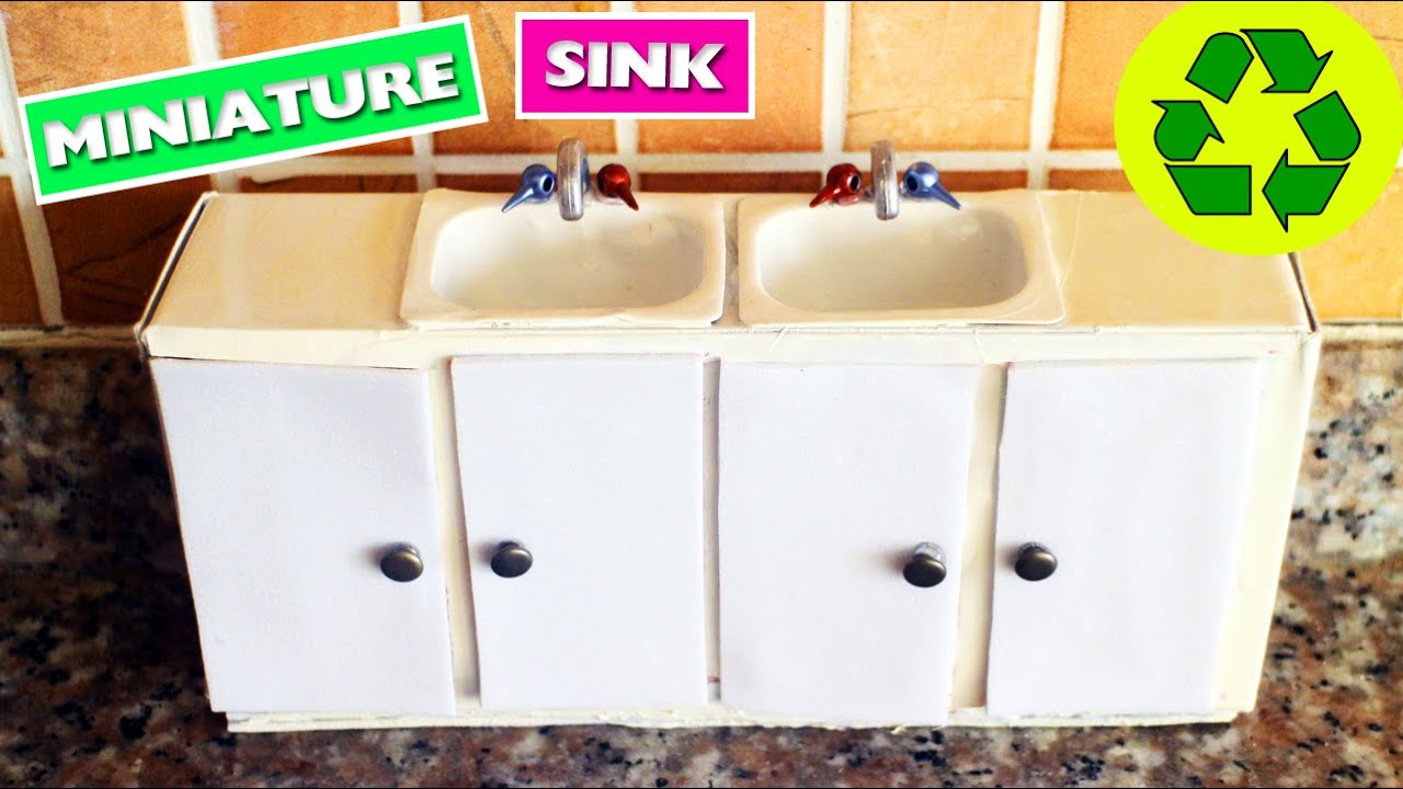 DIY | Miniature Kitchen Sink with doors that open and close ...