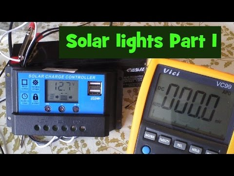 Solar garden light project.  Part 1