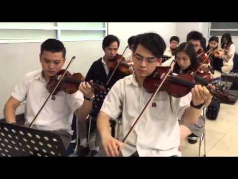 Viva La Vida, by the Binus Simprug Orchestra