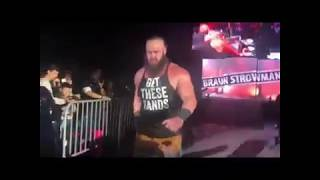 broun strowman distraction in wwe