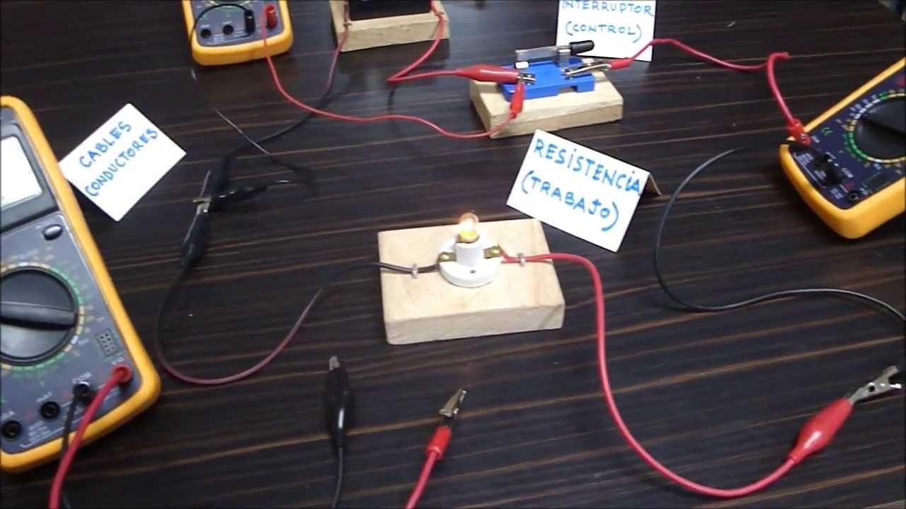 Circuito Basico : Circuito elÉctrico bÁsico partes funcionamiento magnitudes