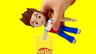 Paw Patrol Ryder Dress up stop motion play doh superhero cartoon for children