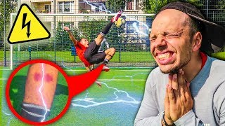 SCHMERZHAFTE ELEKTRO SCHOCKER FUßBALL CHALLENGE !