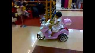 Funny Baby Riding A Motor Bike - Aysha Riding Baby Motor Bike