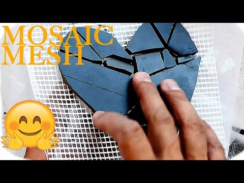 🤗 Working with mosaic mesh and designing mosaic tile art installation - Mosaic art for beginners