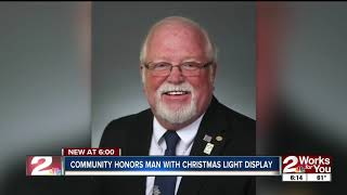 Bartlesville honors man with Christmas lights display