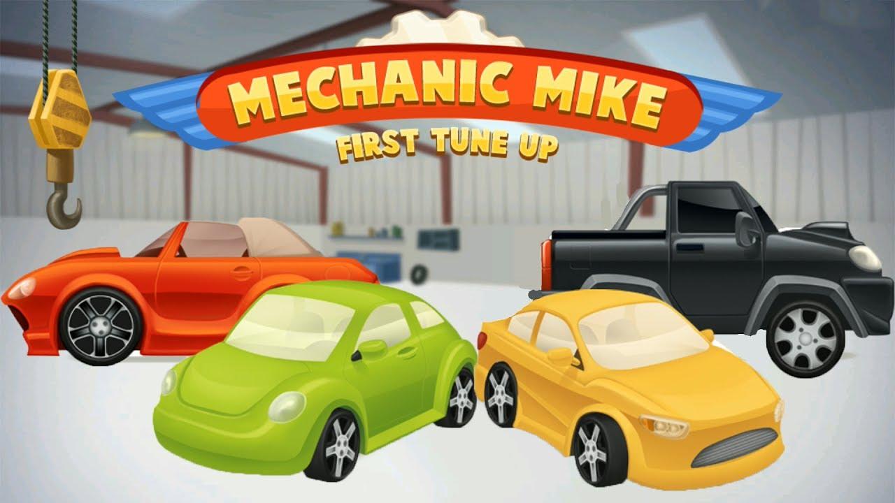 Mechanic Mike Машинки мультик Car Garage Salon Cars For Kids Videos Children Play