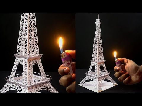 How to Make EIFFEL TOWER Using A4 Size Paper