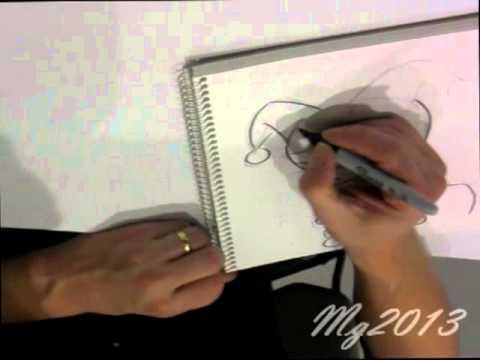 Bruce Timm draws Harley Quinn at ECCC