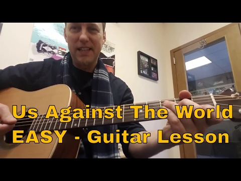 Us Against The World - Coldplay - Lesson For Easy Guitar