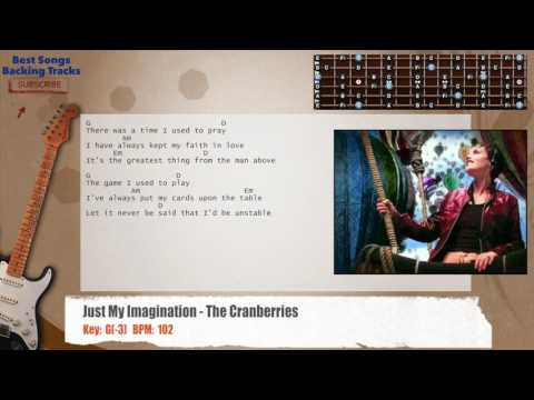 Just My Imagination - The Cranberries Guitar Backing Track with chords and lyrics