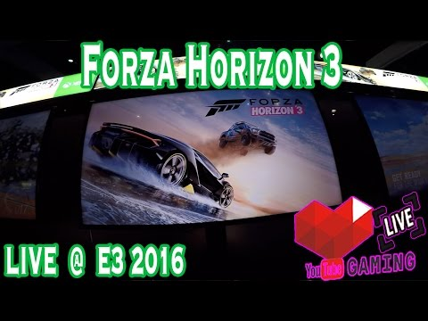 Forza Horizon 3  | Gameplay | E3 Expo 2016  | Xbox One | Live | Booth | Windows 10