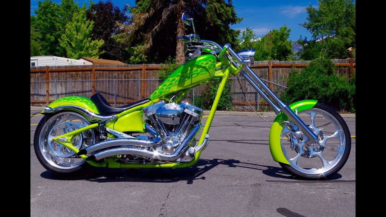 FOR SALE 2007 Big Dog K9 K9 Softail Custom Chopper Motorcycle 3,154 LOW MILES Lime Green Flames