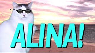 HAPPY BIRTHDAY ALINA! - EPIC CAT Happy Birthday Song