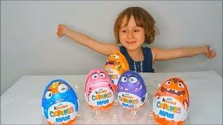 Киндер МАКСИ Сюрприз МОНСТРЫ Распаковка Giant Kinder Surprise MAXI unboxing Eggs