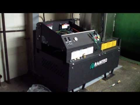 Hydro Chem Systems Ramteq hot water pressure washer installation Pepsi at plant. 800-666-1992