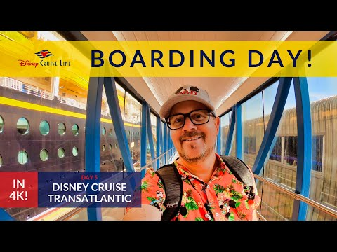 Westbound Transatlantic Disney Cruise - Boarding Day In Dover England!