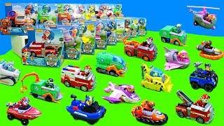 Paw Patrol Feuerwehrautos, Polizeiautos, Bagger, Boote & Flugzeuge | Spielzeug Unboxing für Kinder