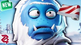 Fortnite Solo YETI SKIN -TROG GAMEPLAY & NEW CANDY CANE WRAP