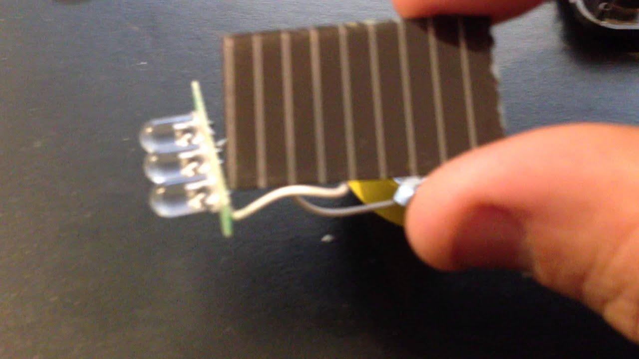 Homemade Solar Lights Fake Mini Solar Energy Keychain 3 Led Flash Light Lamp Torch Youtube