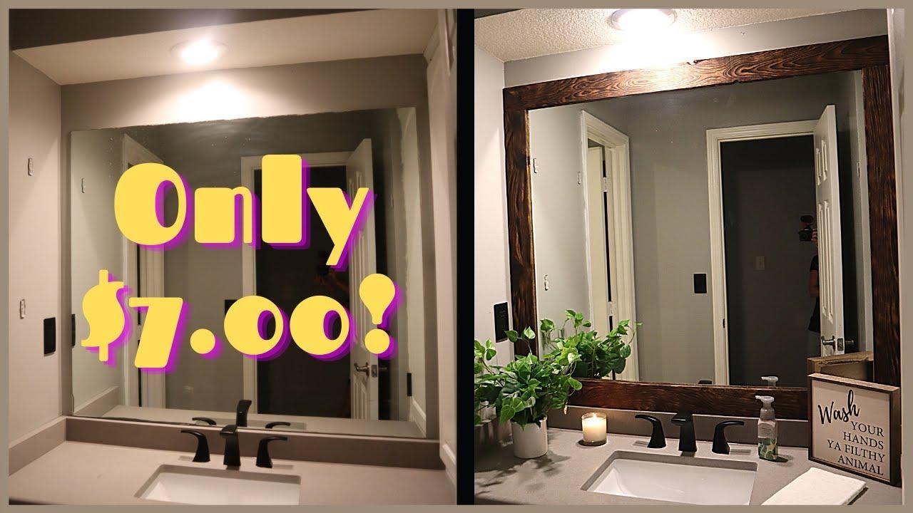 27 Homepage Bathroom Mirror Frame Plans You Can Diy Easily
