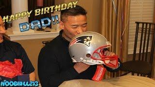 Happy Birthday Dad!! Tom Brady Signed Helmet!!
