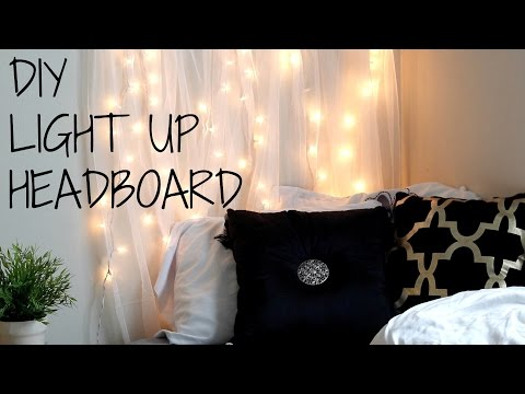DIY Light Up HeadBoard UNDER $20!!!!!