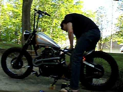 Garage Company Customs Honda CB360 Bobber Idle