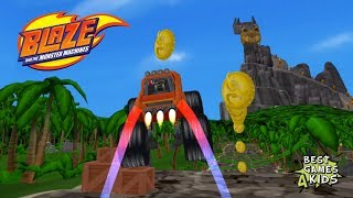 Blaze and the Monster Machines - Racing Game | DRAGON ISLAND Map #3 By Nickelodeon