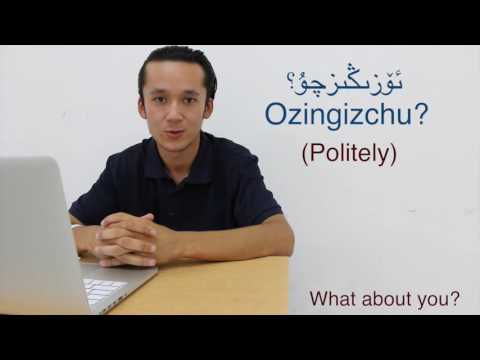 Learning Uyghur in four minutes