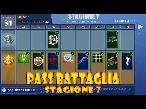 FORTNITE - TUTTO IL PASS BATTAGLIA DELLA STAGIONE 7