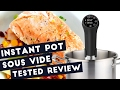 Sous Vide Cooker Tested Review, cooking salmon fillet with instant pot sous vide cooker