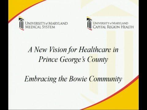 Capital Region/Bowie Health Center Public Info Session