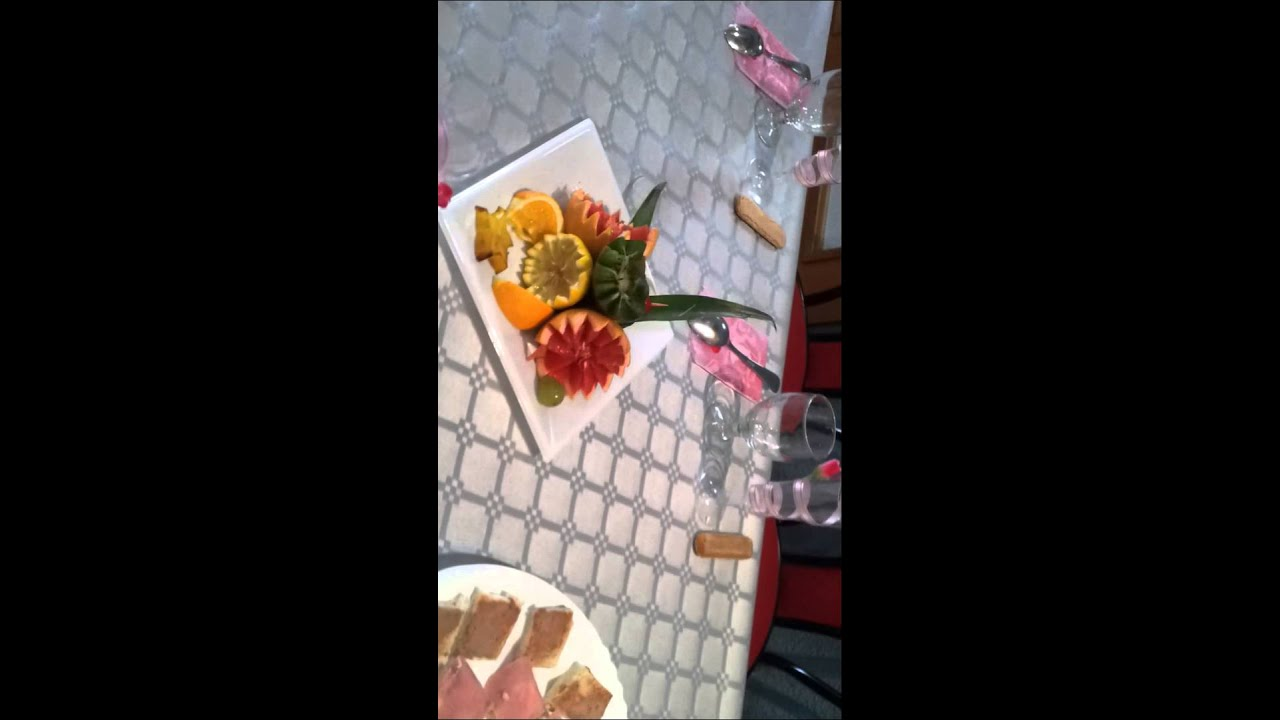 Decoracion de frutas para unos quincea os youtube - Decoracion de frutas ...