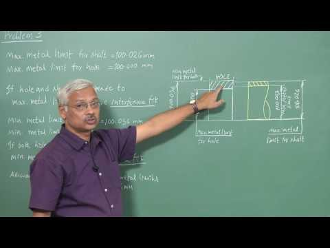 mod03lec3-Numerical problems on fit and tolerances