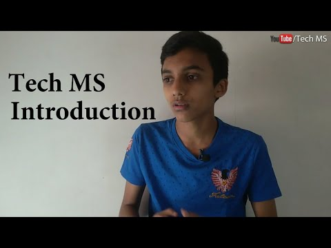 Tech MS - Introduction