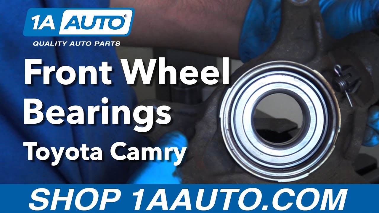 How To Replace Install Front Wheel Bearing 92 03 Toyota