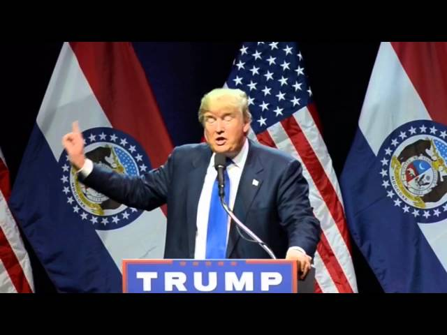 Donald Trump speaks at rally in Kansas City