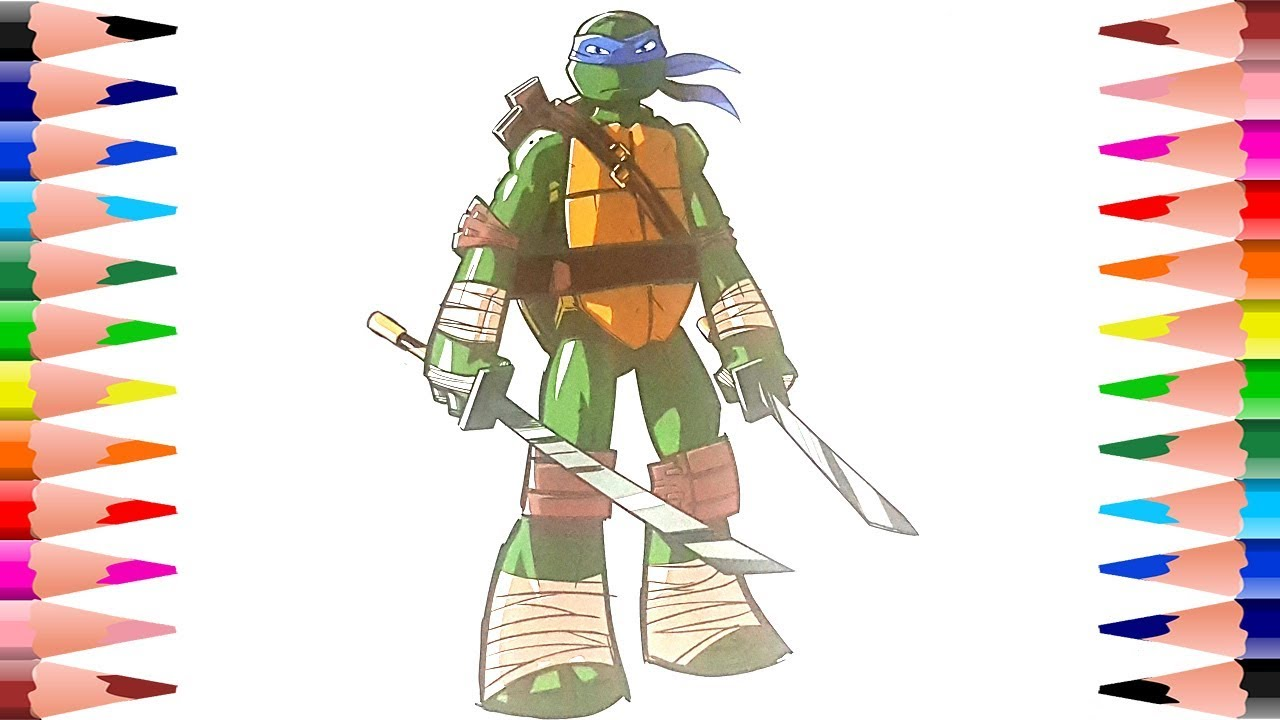 Painting Teenage Mutant Ninja Turtles Coloring Pages - Coloring ...