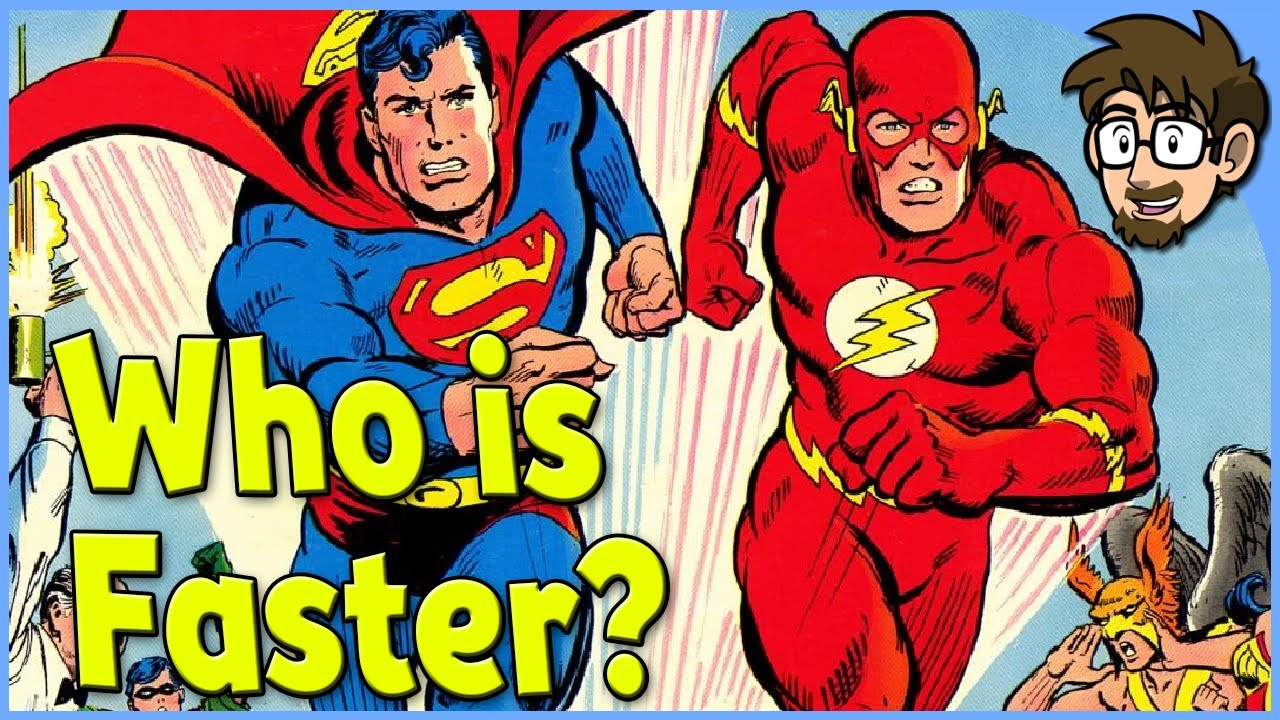 is superman faster than flash
