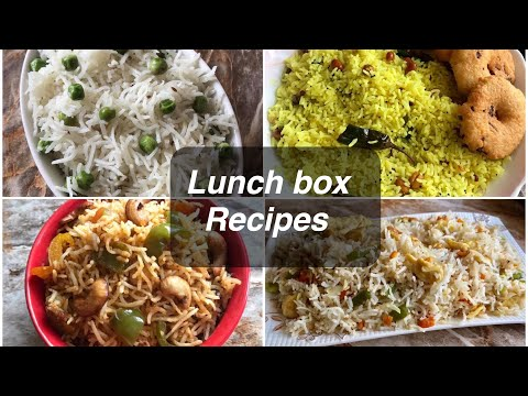 4 easy lunch box recipes 4 easy and tasty rice recipes