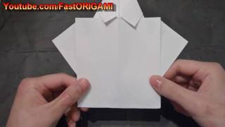 How To Make Father's Day Collared Shirt Origami With Necktie El Día Del Padre Camisa De Col