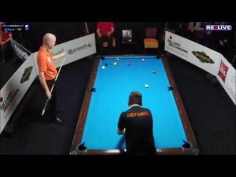 Martin Poguntke vs Nick van den Berg - 10 Ball - German Tour Finale 2015/2016 powered by REELIVE