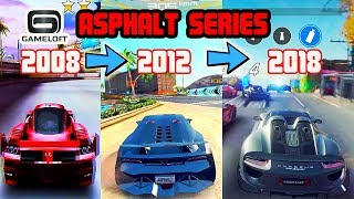 Asphalt History 10 Year on Android/IOS | Graphics Evolution 2008-2018 (Gameloft)
